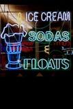 Segni al neon Fotografia Stock