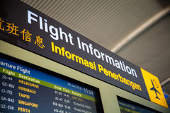 Segni all'aeroporto fotografie stock libere da diritti