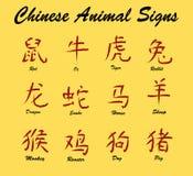 Segni animali cinesi Immagini Stock Libere da Diritti
