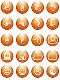 Segni arancioni dell'ufficio di Web Fotografie Stock Libere da Diritti
