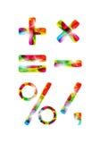 Segni aritmetici Fotografie Stock Libere da Diritti