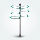 Segni in bianco delle frecce di direzione per lo spazio della copia Immagine Stock Libera da Diritti