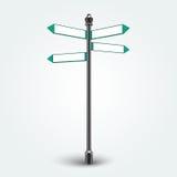 Segni in bianco delle frecce di direzione per lo spazio della copia Immagine Stock