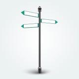 Segni in bianco delle frecce di direzione per lo spazio della copia Immagini Stock Libere da Diritti