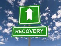 Segni che indicano il recupero Fotografia Stock
