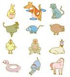 Segni cinesi dello zodiaco Fotografia Stock