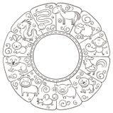 Segni cinesi dello zodiaco royalty illustrazione gratis