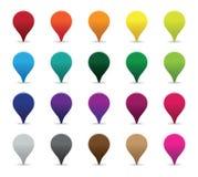 Segni Colourful del puntatore Fotografie Stock Libere da Diritti