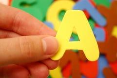 Segni A con lettere Immagini Stock
