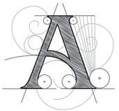 Segni A con lettere fotografie stock libere da diritti