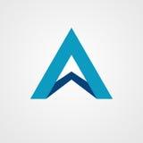 Segni A con lettere con progettazione dell'icona di logo dell'ombra Fotografie Stock Libere da Diritti