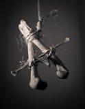 Segni con lettere ha fatto dalle ossa fotografia stock libera da diritti