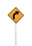 Segni con svolta a destra Immagini Stock