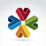 Segni convenzionali astratti di vettore, composizione in progettazione Colorf geometrico royalty illustrazione gratis