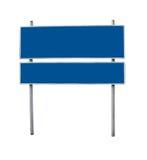 Segni d'acciaio blu in bianco fotografia stock libera da diritti
