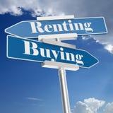 Segni d'affitto e d'acquisto illustrazione vettoriale