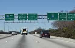 Segni da uno stato all'altro di Atlanta Fotografia Stock