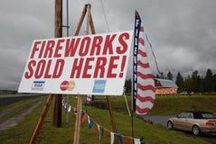 Segni dei fuochi d'artificio immagini stock