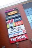 Segni dei negozi e del deposito Fotografia Stock Libera da Diritti