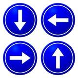 Segni del blu delle frecce direzionali Fotografia Stock Libera da Diritti