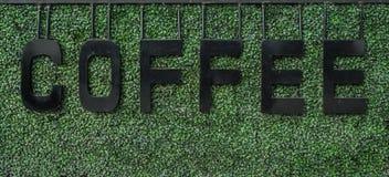Segni del caffè Fotografia Stock
