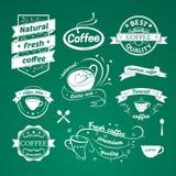 Segni del caffè messi Fotografie Stock Libere da Diritti