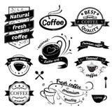 Segni del caffè messi Fotografia Stock Libera da Diritti