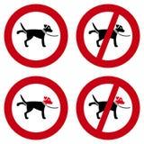 Segni del cane Immagine Stock
