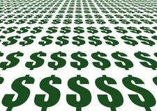 Segni del dollaro Fotografie Stock