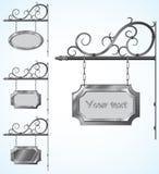 Segni del ferro battuto per progettazione antiquata Immagine Stock Libera da Diritti