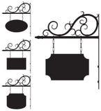 Segni del ferro battuto per progettazione antiquata Immagini Stock