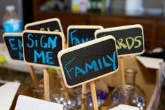 Segni del gesso della decorazione di nozze Fotografia Stock