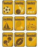 Segni del grunge di sport Fotografia Stock