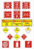Segni del pericolo Fotografia Stock