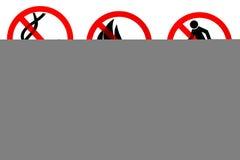 Segni del pericolo Fotografia Stock Libera da Diritti
