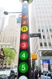 Segni del sottopassaggio di New York Immagini Stock Libere da Diritti