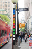 Segni del sottopassaggio di New York Fotografia Stock
