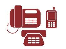 Segni del telefono Immagine Stock
