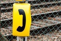 Segni del telefono di emergenza Fotografia Stock