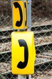 Segni del telefono di emergenza Fotografie Stock Libere da Diritti