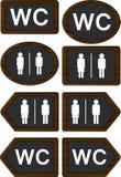 Segni del WC Fotografia Stock