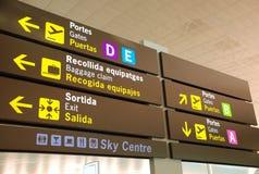 Segni dell'aeroporto Immagini Stock