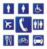 Segni dell'aeroporto Immagini Stock Libere da Diritti
