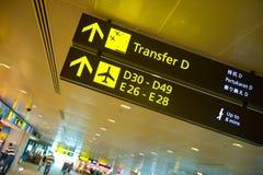 Segni dell'aeroporto Immagine Stock