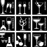 Segni dell'alcool Immagini Stock Libere da Diritti