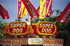 Segni dell'alimento del parco di divertimenti Fotografie Stock Libere da Diritti