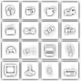 Segni dell'attrezzatura elettronica Immagine Stock Libera da Diritti