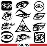 Segni dell'occhio Immagine Stock Libera da Diritti