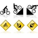 Segni della bicicletta illustrazione vettoriale