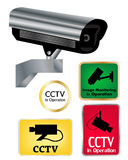 Segni della macchina fotografica del CCTV Fotografia Stock